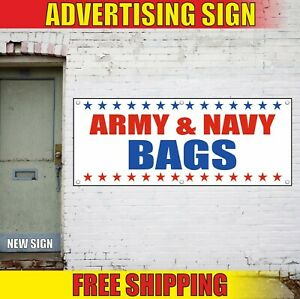 Bags Banner Advertising Vinyl Sign Flag Army Navy Shop Military Store Sale Open