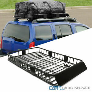 Universal 64 Black Extension Roof Rack Cargo Luggage Carrier Hold Basket Suv
