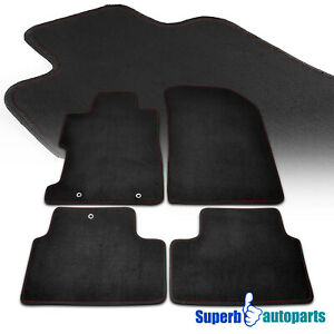 For 2006 2010 Honda Civic 2dr Coupe 4pc Fabric Floor Mats Carpet Black