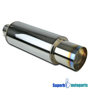 Universal N1 4 Burnt Tip Stainless Exhaust Muffler