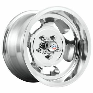 Four 4 15x7 Us Mag Indy Et 5 Polished 5x127 5x5 Wheels Rims