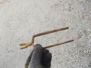 International 154 Cub Low Boy Tractor 154 Throw Out Carrier Holder Fork Bracket