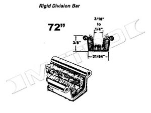 Rigid Division Bar Channel 72 Long Fits 1933 1960 Buick Cadillac And More