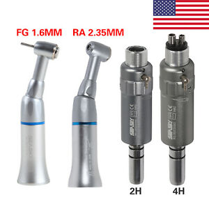 2 4 holes Dental Slow Low Speed Contra Angle Air Motor Micromotor Kit Ftg
