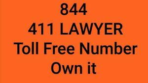 844 411 Lawyer Toll Free Vanity Phone Number Law Firm Legal Help Injury Attorney