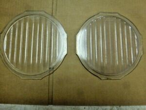 Very Early Ford Model T Truck Scripted Headlight Lense Pair 8 X 7