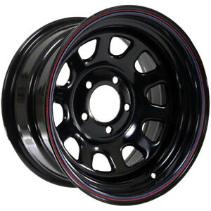 American Racing Ar767 15x7 5x5 0mm Black Stripes Wheel Rim 15 Inch