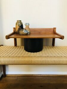 Danish Modern Mid Century Dyrlund Floating Teak Wall Shelf Mcm