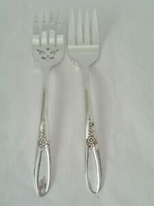Oneida Community Fantasy Silver Plated Cold Meat Serving Forks 2 Styles 8 1 2