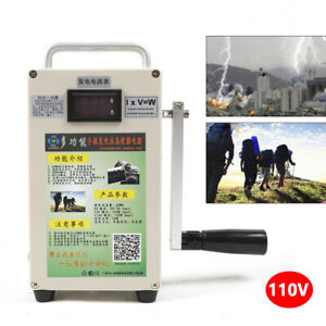 New Portable Hand Crank Generator 110v With Lithium Battery Emergency Charger Us