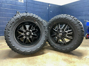 20 Fuel D538 Dually Maverick Wheels 35 Mt Tires 8x6 5 Dodge Ram 3500 Cummins