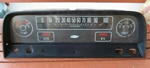 1964 1966 Chevrolet C10 K10 Truck Dash Gauge Cluster Assembly With Harness Gm