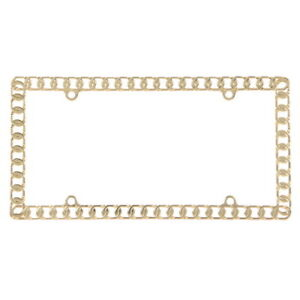Gold Chain License Plate Frame License Plate Accessories License Frame