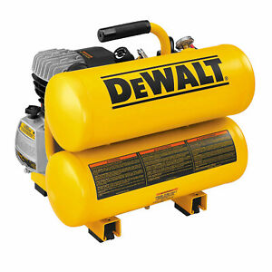 Dewalt D55153 2 Hp Elec 4 Gal Hand Carry Twin Tanks
