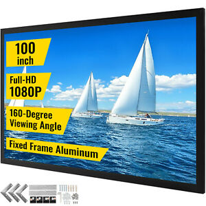 100 16 9 Fixed Frame Projector Screen Hd 4k Home Theatre 3d Great Wholesale