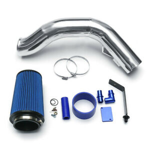 Silver 4 Cold Air Intake Kit For Ford F 250 F 350 Excursion 6 0l Diesel 03 07