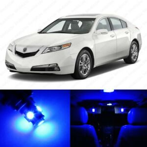 13 X Blue Led Interior Lights Package For 2009 2014 Acura Tl Pry Tool