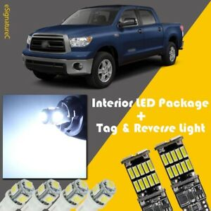 20 X White Led Interior Reverse Light Package For 2007 2013 Toyota Tundra