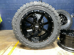 20x10 Moto Metal Mo970 Black Wheels Rim 33 Mt Tires 5x5 5 Dodge Ram 1500