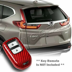 Real Red Carbon Remote Key Shell Cover Case Fit Honda cr v hr v pilot ridgeline