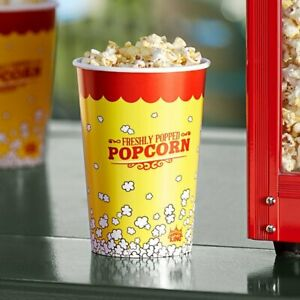 500 pack 46 Oz Round Paper Movie Theatre Concession Popcorn Cups Eye catching