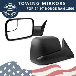 For 94 97 Dodge Ram 1500 2500 3500 Power Manual Flip Up Towing Mirrors Pair