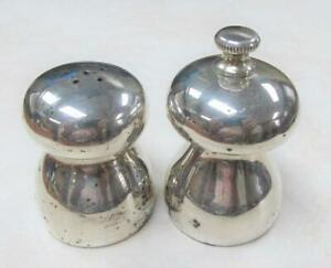 Vintage Sterling Silver Salt Pepper Shakers Made In Italy 119grams Ss 23
