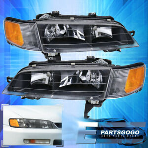 For 94 97 Accord Bumper Replacement Head Lights Lamps Turn Signal Corner Lamps