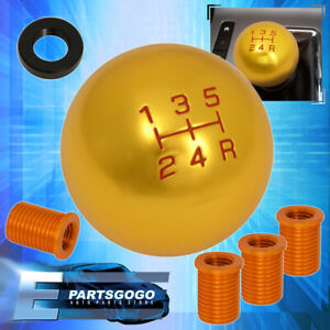 For Toyota M8 M10 M12 Kit Adapter Kit 5 Speed Round Shift Knob Aluminum 24k Gold