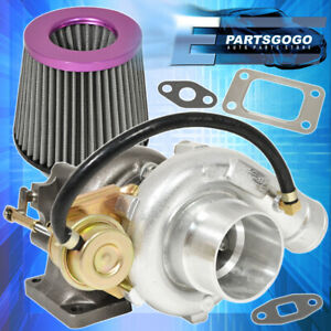 T3 T4 V band Oil Cooled Turbo Charger Turbine Jdm High Flow Air Filter Purple
