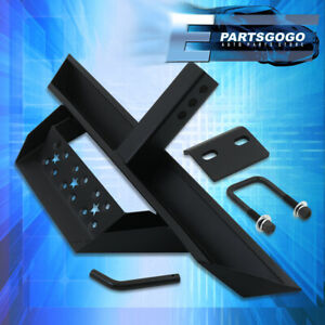 For Universal 2 Receiver Truck Bed Heavy Duty Steel Tow Hitch Guard Step Bar