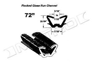 Universal Flocked Glass Run Channel 72 Piece Each Fast Shipping Usa Made