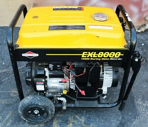 Briggs Stratton Portable Generator Exl8000 13500 Starting Watts Model 030244
