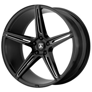 4 asanti Abl 22 Alpha 5 22x9 5x115 15mm Black milled Wheels Rims 22 Inch