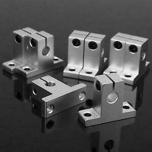 8pcs Bearing Aluminum Alloy Linear Rail Shaft Guide Support Stand Hot