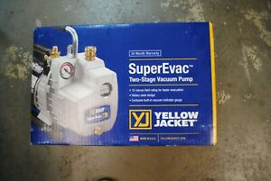 Yellow Jacket Superevac 93560 Two Stage 6 Cfm 115 Volt Vacuum Pump 1 2 Hp Usa