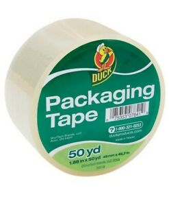 Duck Brand Clear Acrylic Packaging Tape 1 88 X 50 Yard Roll