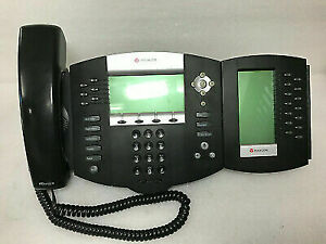 Polycom Soundpoint Ip 650 Ip650 Sip Phone W Stand handset And Sidecar