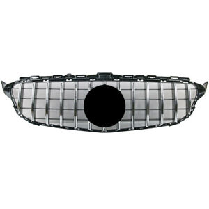 Front Chrome Gt Grille Mask For Mercedes Benz W205 C200 C250 C300 2014 2020
