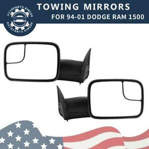 Left Right Towing Mirrors Manual For 94 01 Dodge Ram 1500 94 02 Ram 2500 3500