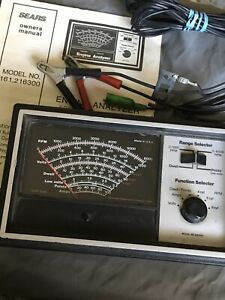 Sears Engine Analyzer Solid State Model 161 216300 Craftsman Made In The Usa
