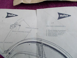 62 1962 Nos Mopar Foxcraft Rear Wheel Shields Fender Skirts Plymouth