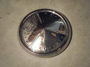 60 1960 Pontiac Catalina Enforcer Poverty Dog Dish Hubcap Hub Cap Chrome Vintage