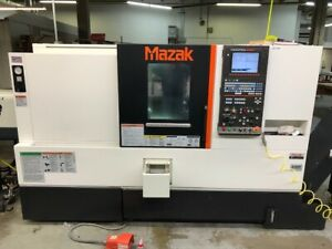 Used Mazak Qts 200 Cnc Lathe 2015 Smart 2 6 Bar Barfeed Apc Chip Tool Eye