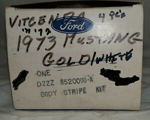 Nos 1971 72 73 Ford Mustang Coupe Body Stripe Kit Gold white D2zz 6520000 a