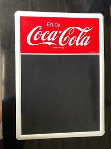 1991 Enjoy Coca Cola Metal Sign With Chalk Menu Board - FREE SHIPPING