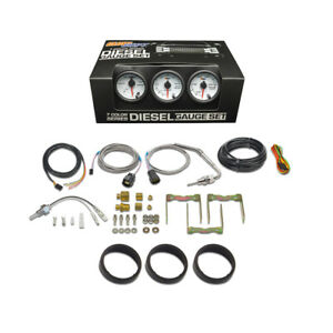 White 7 Color Diesel Gauge Set Boost Pyrometer Egt Trans Temp Gs W7 Ds10