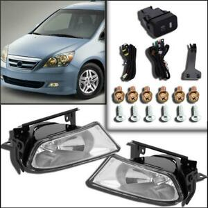 For 2005 2007 Honda Odyssey Bumper Driving Fog Lights W switch Bulb Left Right