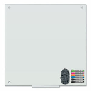 U Brands Magnetic Glass Dry Erase Board Value Pack 36 X 36 White