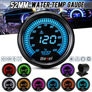 2 52mm Led Digital Car Water Temp Temperature Gauge Meter Sensor 20 120 12v